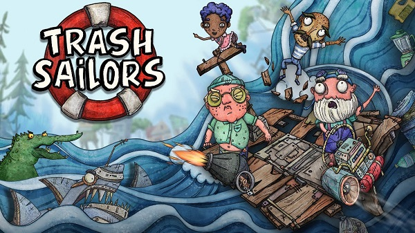 Trash Sailors Local Couch and Online Co-op Multiplayer