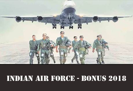 Productivity Linked Bonus for eligible industrial civilian employees of the Indian Air Force for the year 2017-2018