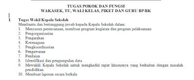 Tugas dan Fungsi Wakasek, TU, Wali Kelas dalam Struktur Organisasi Sekolah