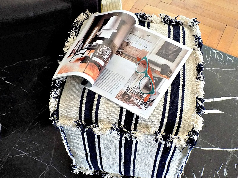 IKEA hack diy cube pouf ottoman