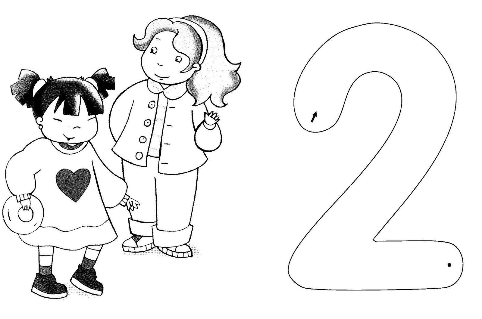 Fichas Infantiles: Fichas Del Número 2