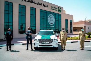 """جمعة الماجد تعزز أسطول شرطة دبي بسيارة """"جينيسيس GV80"""""""