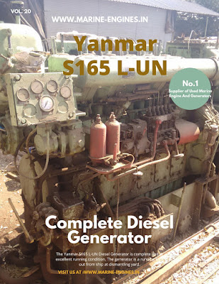 Yanmar Generator, used, Yanmar S165 LUN, LHT, LEN, Diesel Generator, Marine, Motor, for sale, in stock, supplier, dealer, spare parts