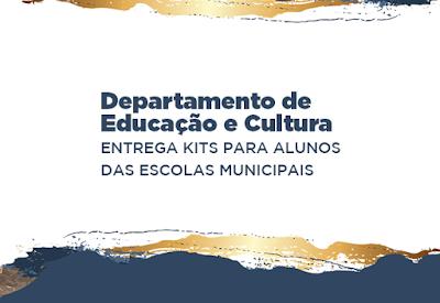 Prefeitura de Cajati entrega kits para alunos das escolas municipais