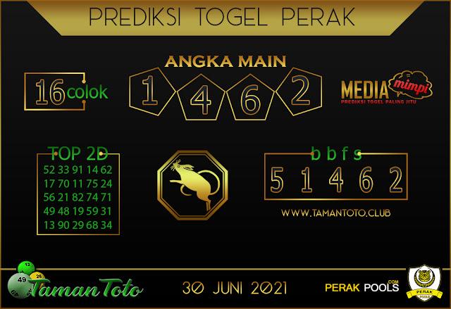 Prediksi Togel PERAK TAMAN 30 JUNI 2021