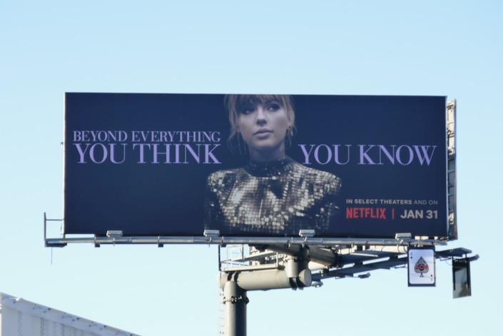Taylor Swift Miss Americana billboard