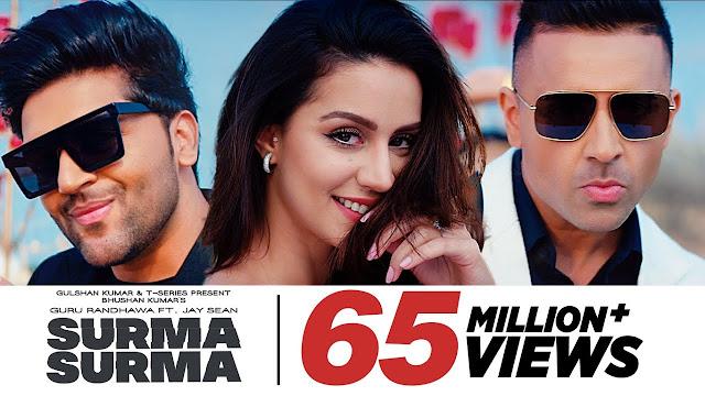 SURMA SURMA: Punjabi  Lyrics Song | Guru Randhawa Feat. Jay Sean | Larissa Bonesi, Vee, DirectorGifty | Bhushan Kumar