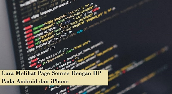 melihat page source di android