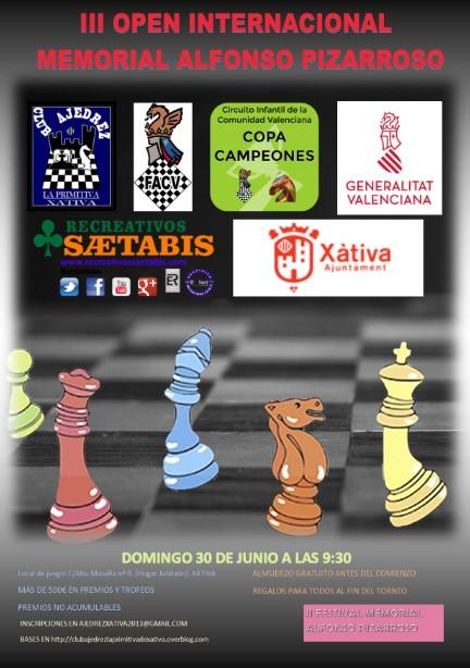 30 junio, Festival Memorial Alfonso Pizarroso (Xàtiva), con Open Internacional (CC) y Torneo Escuelas (CCI)