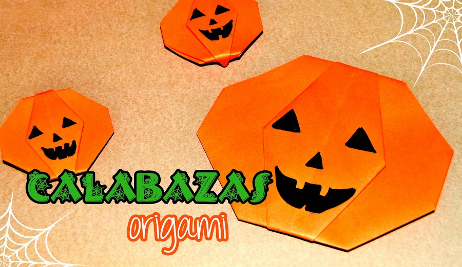 Lapicero porta l pices con la t cnica origami - Calabazas de halloween manualidades ...
