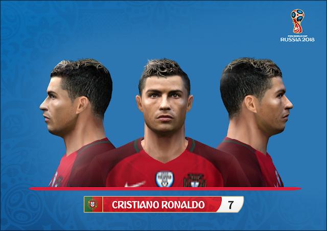 Cristiano Ronaldo Face And Hair 2018 by Alegor - Micano4u | PES