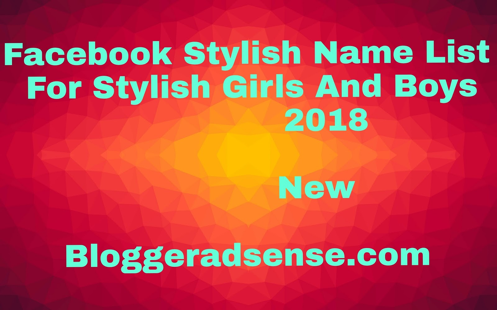 Facebook Stylish Name List 2018 This Is What Professionals Do
