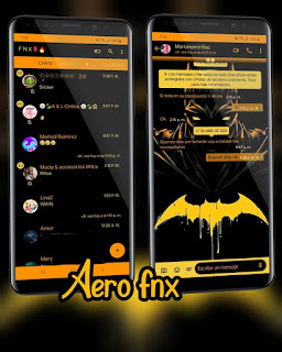 Dark Batman Theme For YOWhatsApp & Aero WhatsApp By Ave fénix