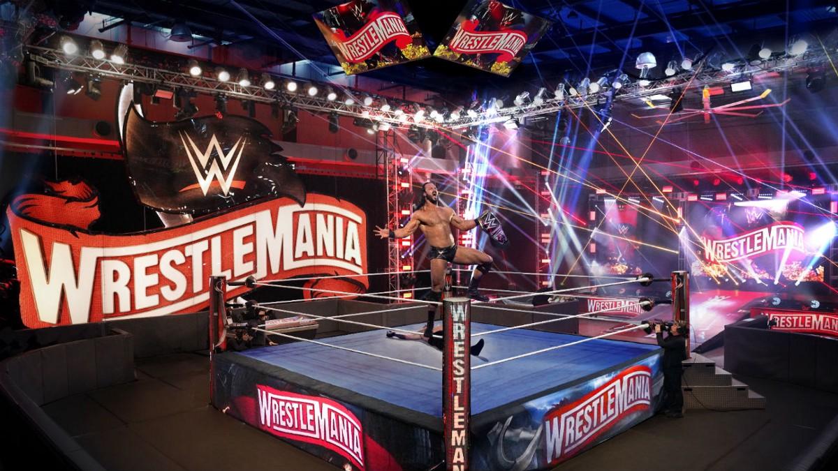WWE coloca logo oficial da WrestleMania 37 no cenário do Royal Rumble