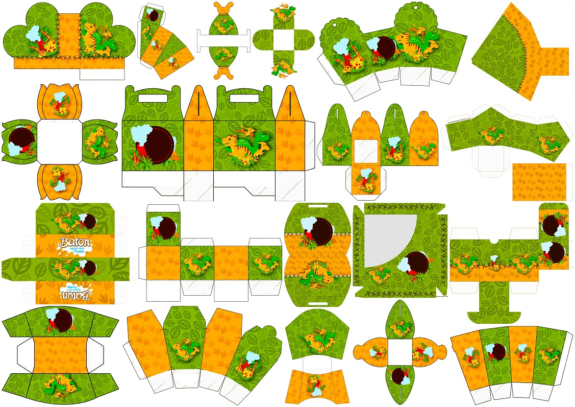 Dinosaurs Party Free Printable Boxes Oh My Fiesta In