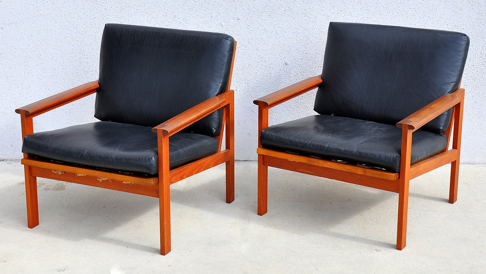 Danish Modern Leather Chair Select Modern