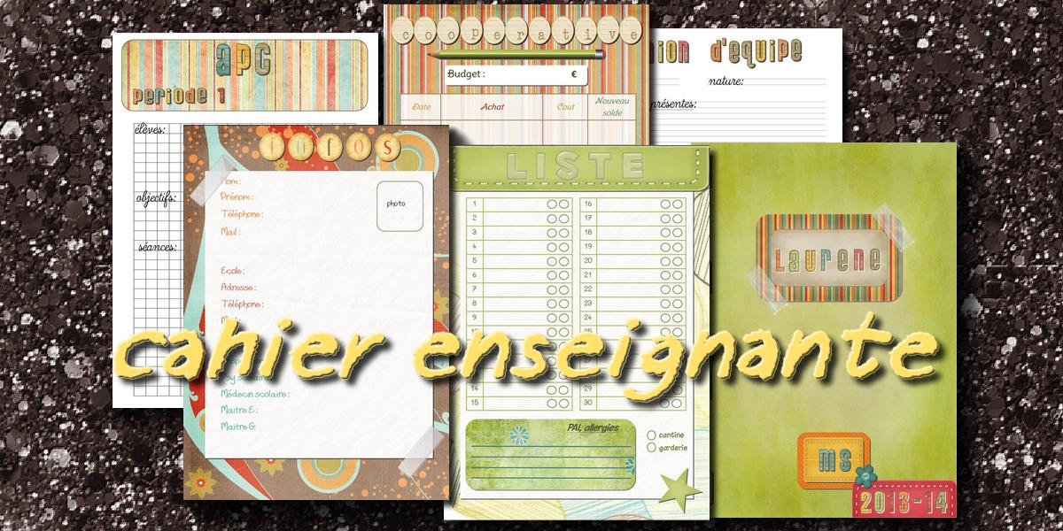 Fabuleux La maternelle de Laurène: Cahier enseignante et cahier journal SQ12