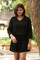 Actress Hebah Patel Stills in Black Mini Dress at Angel Movie Teaser Launch  0042.JPG