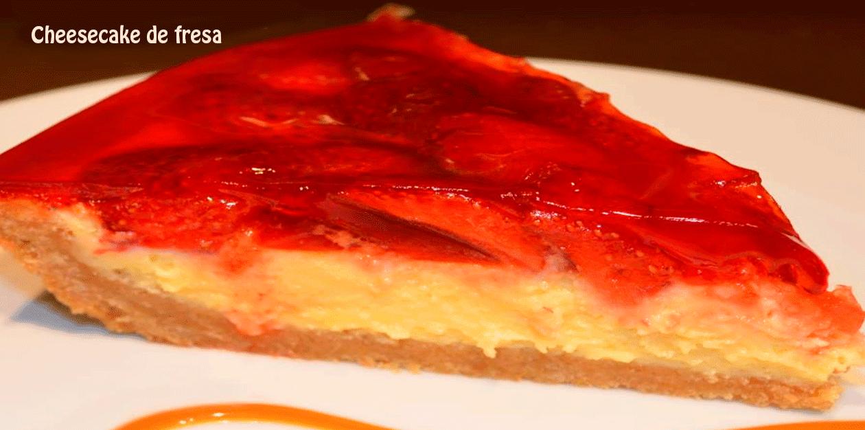 Cheesecake de fresa sin horno, delicioso postre con fresas super cremoso y muy fácil de preparar, para disfrutarlo con la familia.