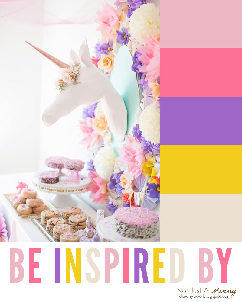 Be party palette inspired with this Whimsical Unicorn Party