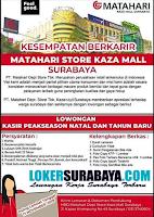 Kesempatan Berkarir di PT. Matahari Dept Store Tbk Surabaya Nopember 2019