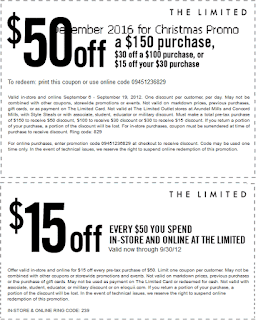 The Limited coupons for december 2016