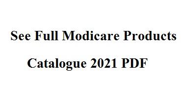 Modicare Products Catalogue 2021 PDF