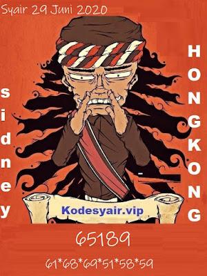 SYAIR TOGEL HONGKONG SENIN 29 JUNI 2020