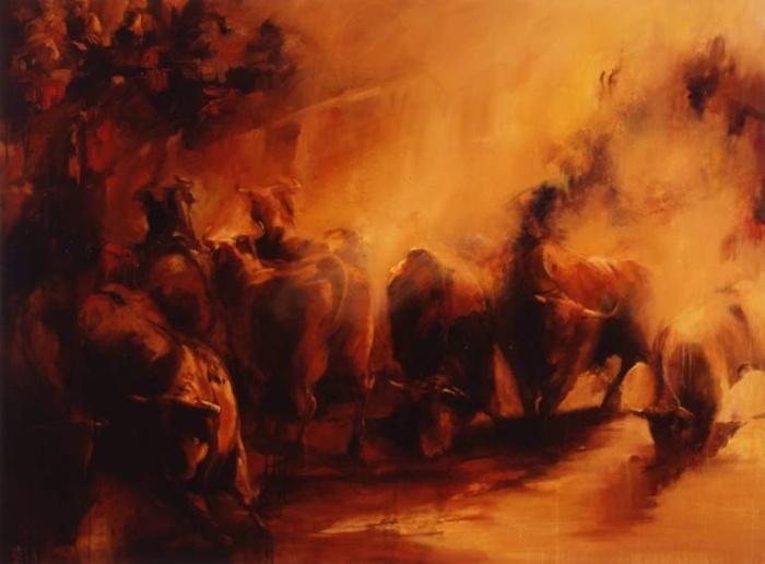 Современный индийский художник.