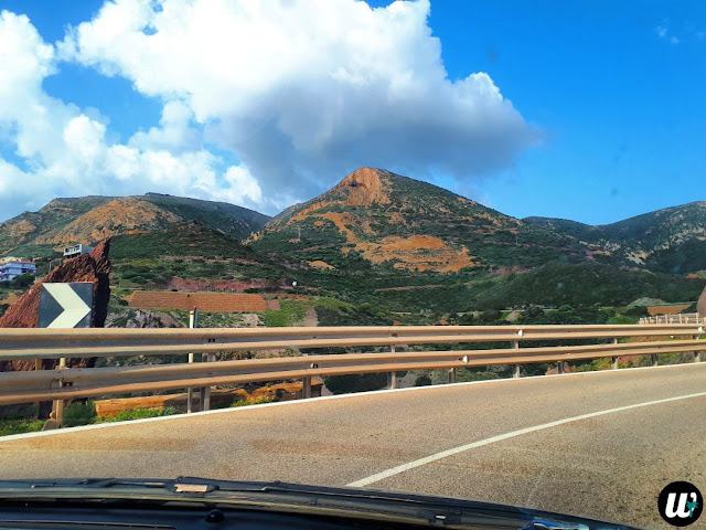 Winding road on a mountain slope, driving | Sardinia, Italy | wayamaya