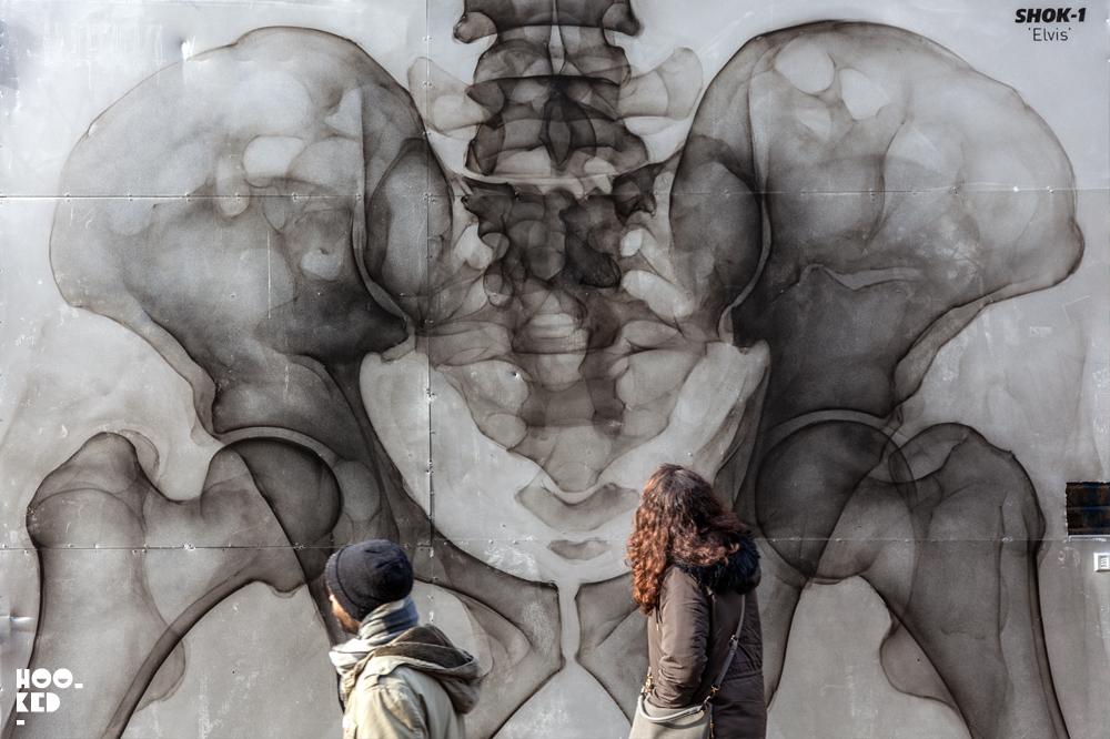 Elvis mural by London street artist SHok-1