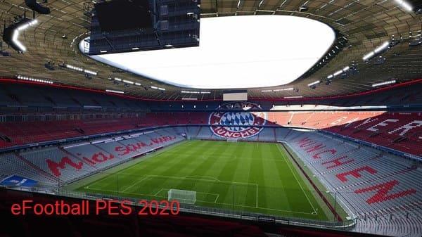 ملعب كرة القدم فى لعبة بيس 2020