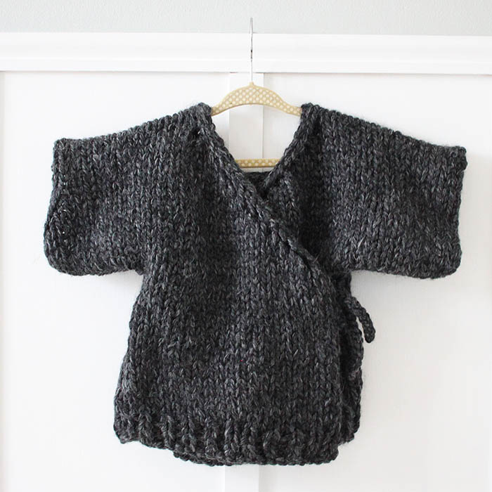 Knitting Pattern Baby Sweater Chunky Yarn : Free Knitting Patterns to make with Chunky Yarn - Gina Michele