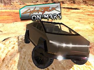 العاب سيارات حقيقيه - لعبة CyberTruck on Mars