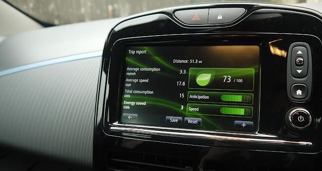 Renault Zoe 40 touchscreen