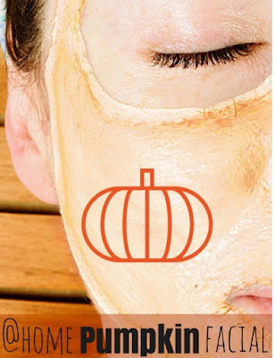 DIY At-Home Pumpkin Facial Mask - the next time you carve a pumpkin, reuse the gooey pumpkin insides to brighten skin