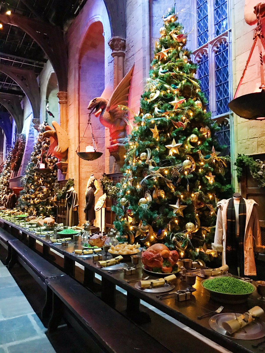 The great hall at the Harry Potter studio tour