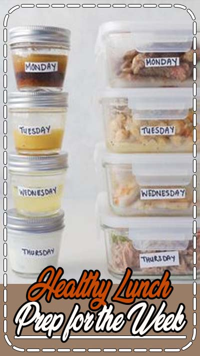 Prep your lunches for the week on a Sunday afternoon for a relaxed and stress-free week ahead!