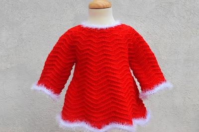 3 - Crochet Imagenes Mangas para vestido rojo navidad a crochet y ganchillo por Majovel Crochet