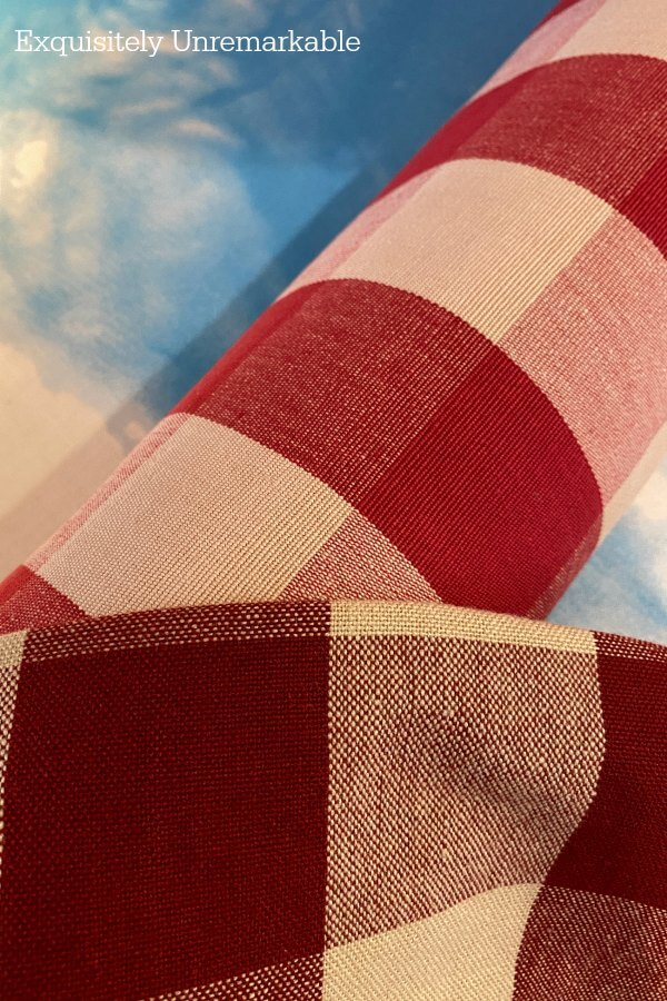 Comparing Red Check Fabric