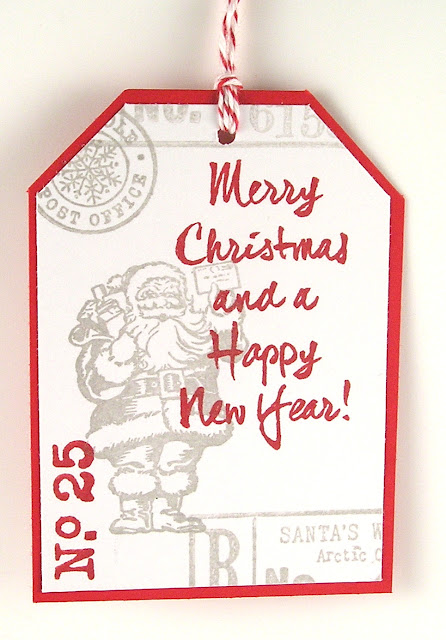 Darkroom Door Rubber Stamps Merry Mail Brushed Christmas Vol 1 Tag