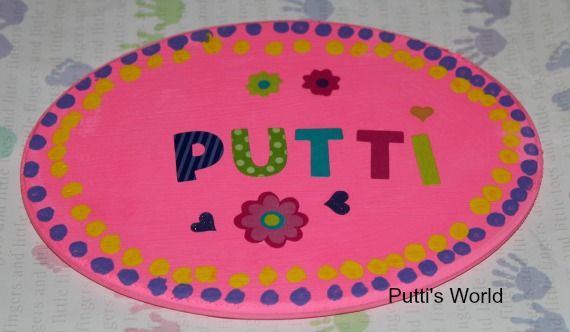 DIY Personalized Kids Name Plaque