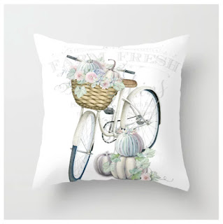 The Pumpkin Patch Throw Pillow by Shabby Art Boutique