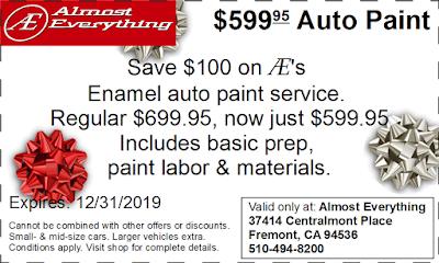 Coupon $599.95 Auto Paint Sale December 2019