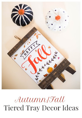 Autumn/Fall Tiered Tray Decor Ideas