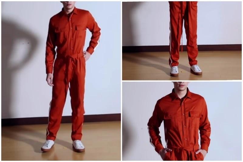 Classic way Style men's jumpsuit.