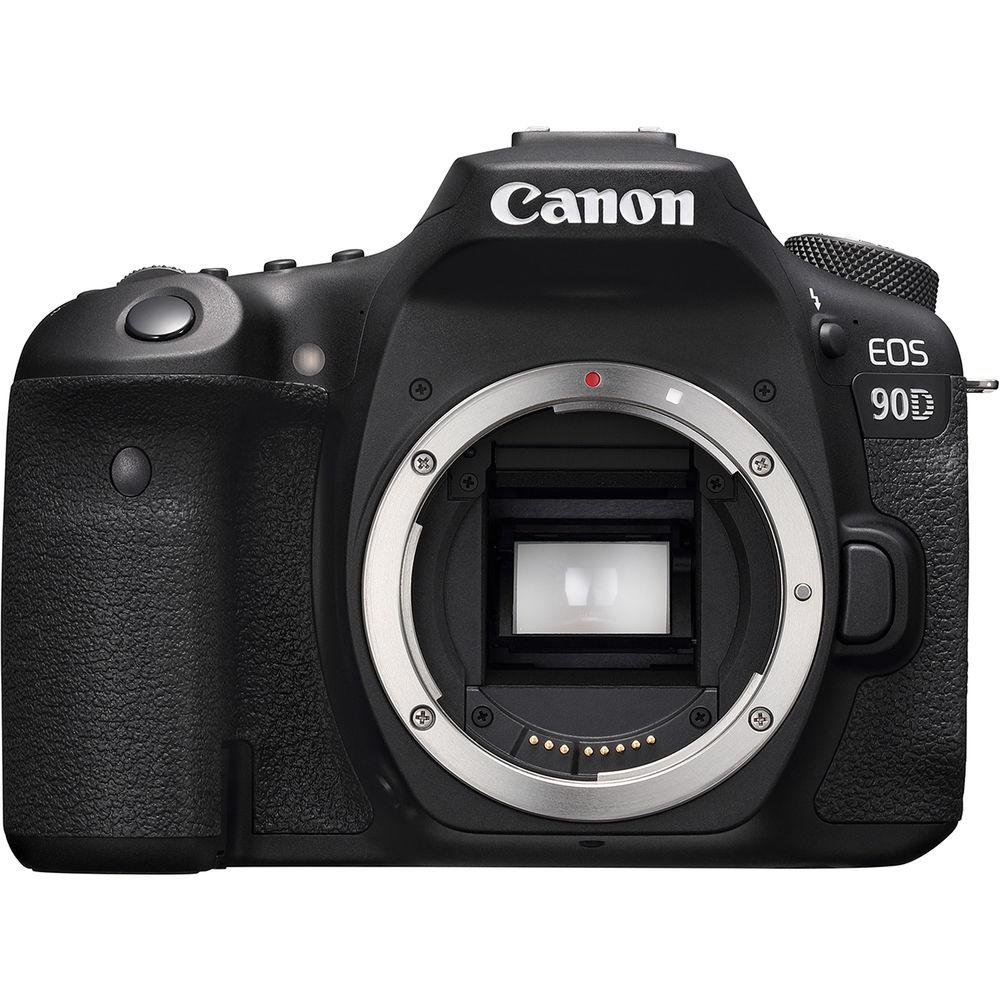 Canon EOS 90D, вид спереди