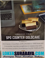 Karir Surabaya di Counter Goldcake PTC September 2020