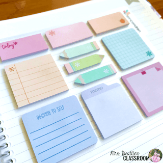 Photo of Erin Condren mini sticky note dashboard