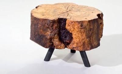 Marupadesign practica de texturas - Mesas de troncos de madera ...